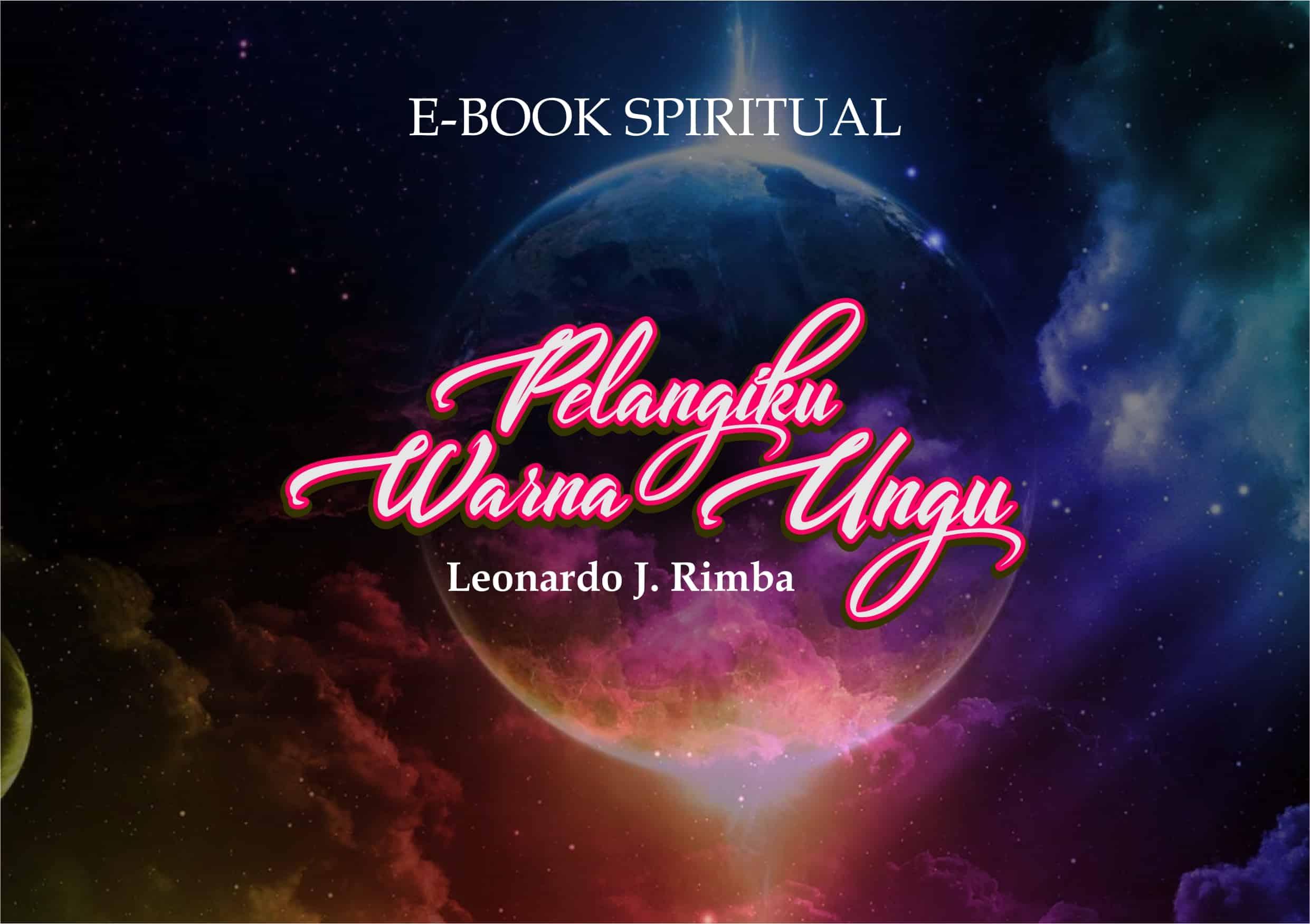 COVER E-BOOK SPIRITUAL - PELANGIKU WARNA UNGU - post